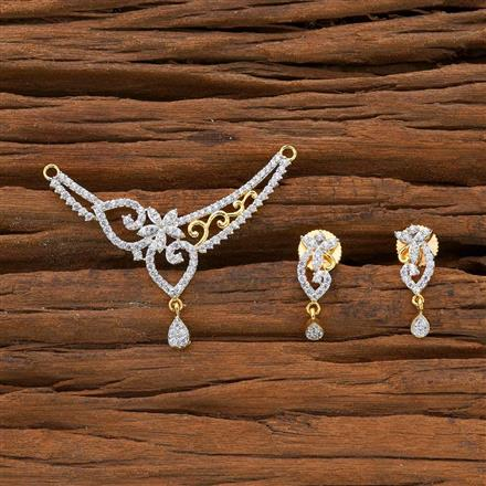 54520 CZ Classic Mangalsutra with 2 tone plating