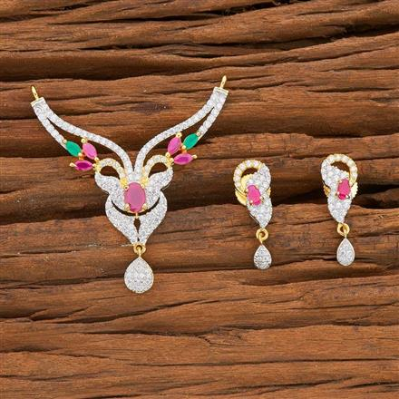 54521 CZ Classic Mangalsutra with 2 tone plating