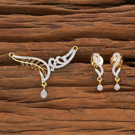 54522 CZ Classic Mangalsutra with 2 tone plating