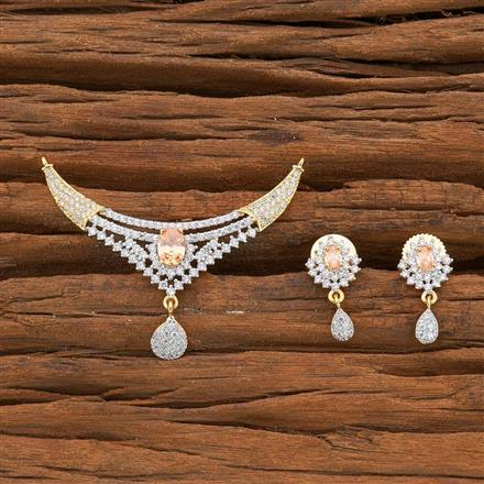 54523 CZ Classic Mangalsutra with 2 tone plating