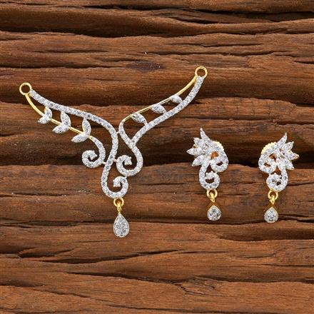 54525 CZ Classic Mangalsutra with 2 tone plating