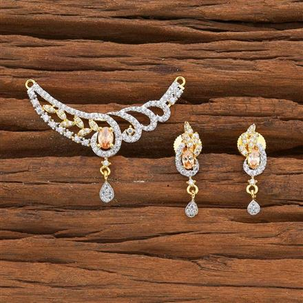 54526 CZ Classic Mangalsutra with 2 tone plating