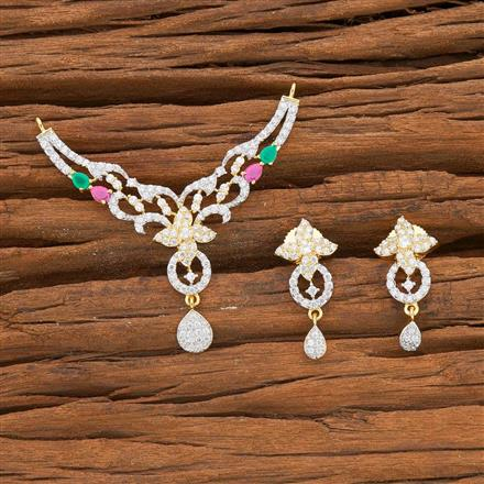 54527 CZ Classic Mangalsutra with 2 tone plating