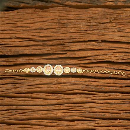 54528 CZ Classic Bracelet with 2 tone plating