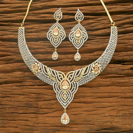 54559 CZ Classic Necklace with 2 tone plating