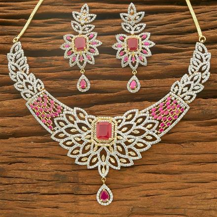 54563 CZ Classic Necklace with 2 tone plating