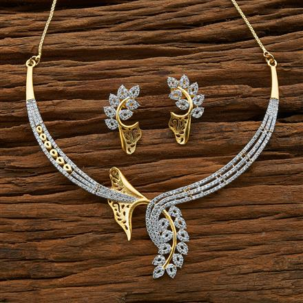 54588 CZ Classic Necklace with 2 tone plating