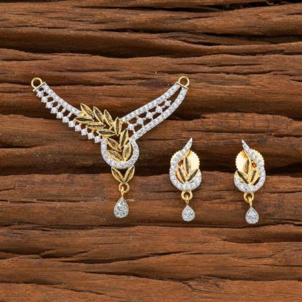 54590 CZ Classic Mangalsutra with 2 tone plating