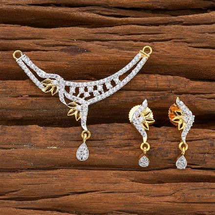 54591 CZ Classic Mangalsutra with 2 tone plating