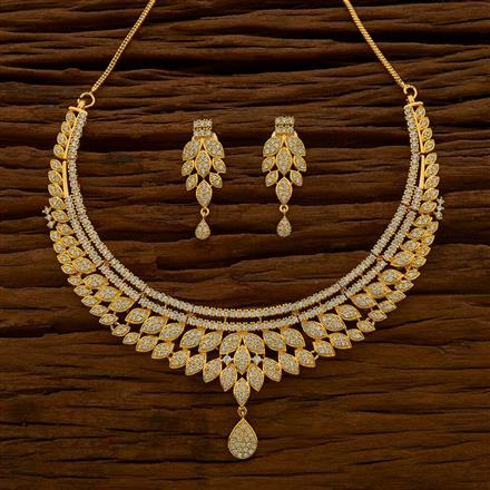 54627 CZ Classic Necklace with gold plating