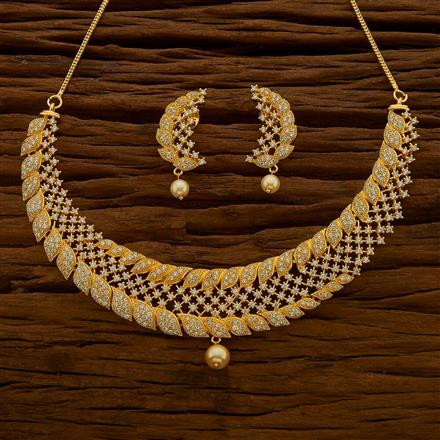 54631 CZ Classic Necklace with gold plating