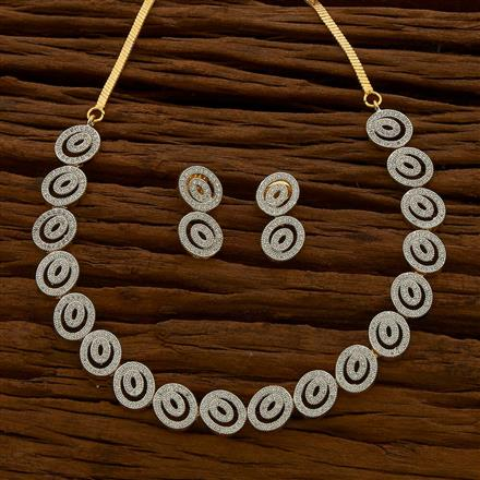 54643 CZ Classic Necklace with 2 tone plating