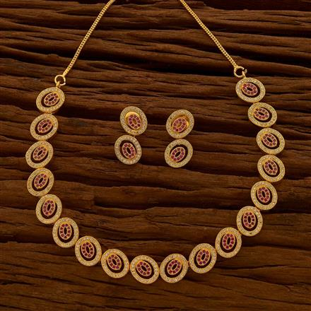 54644 CZ Classic Necklace with gold plating