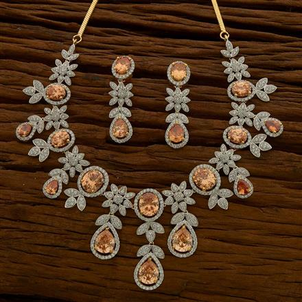54649 CZ Classic Necklace with 2 tone plating