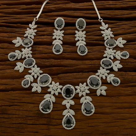 54650 CZ Classic Necklace with rhodium plating