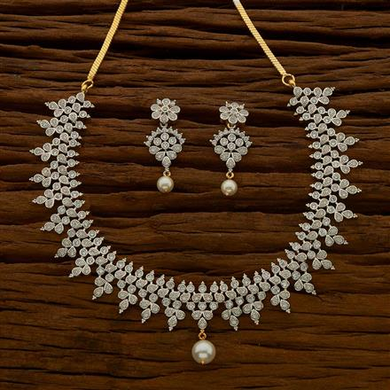 54651 CZ Classic Necklace with 2 tone plating