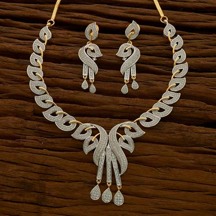 54655 CZ Classic Necklace with 2 tone plating