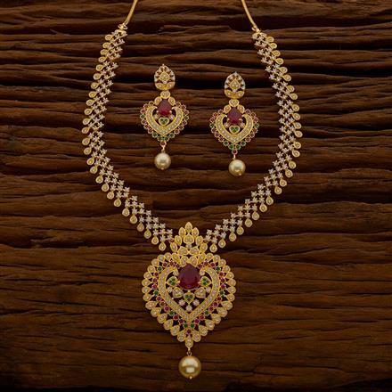 54661 CZ Classic Necklace with gold plating