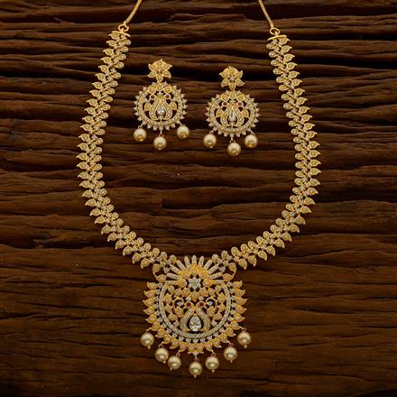 54668 CZ Classic Necklace with gold plating