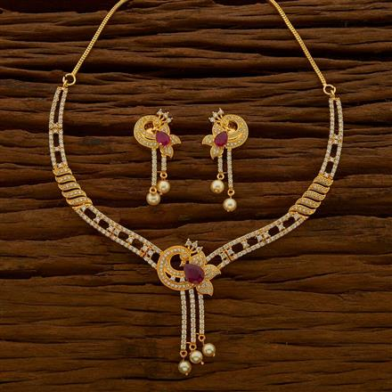 54669 CZ Classic Necklace with gold plating