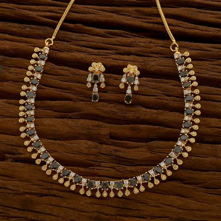 54670 CZ Classic Necklace with gold plating