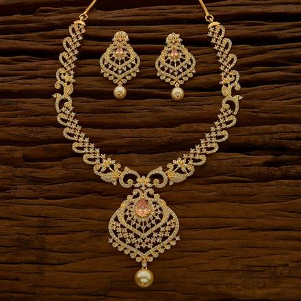 54671 CZ Classic Necklace with gold plating
