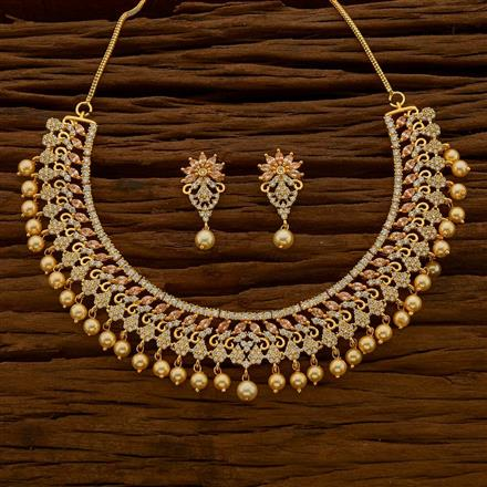 54675 CZ Classic Necklace with gold plating