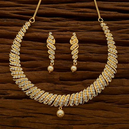 54676 CZ Classic Necklace with gold plating