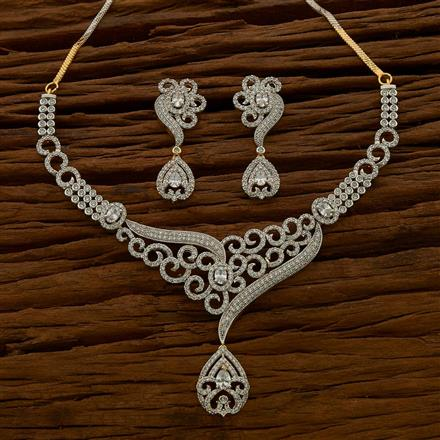 54687 CZ Classic Necklace with 2 tone plating