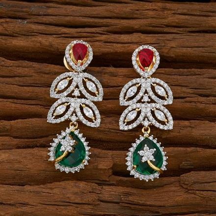 54743 CZ Classic Earring with 2 tone plating