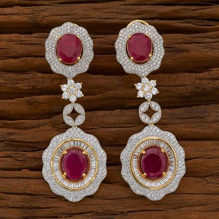 54746 CZ Classic Earring with 2 tone plating