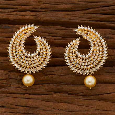 54747 CZ Classic Earring with gold plating