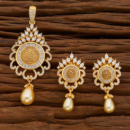 54750 CZ Classic Pendant Set with gold plating