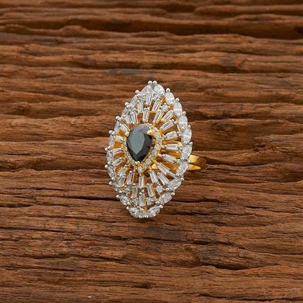 54754 CZ Classic Ring with 2 tone plating