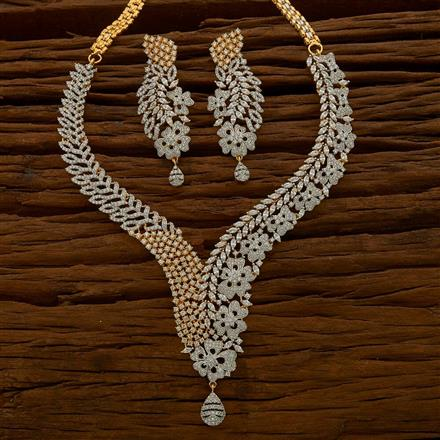 54756 CZ Classic Necklace with 2 tone plating
