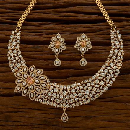 54759 CZ Classic Necklace with gold plating