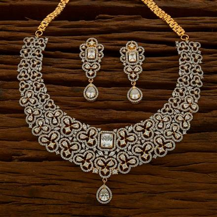 54762 CZ Classic Necklace with 2 tone plating