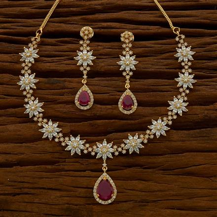 54767 CZ Classic Necklace with gold plating