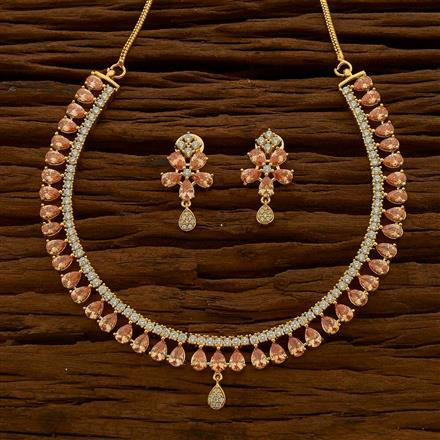 54768 CZ Classic Necklace with gold plating
