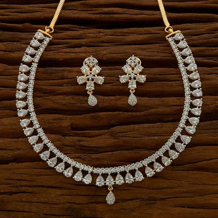 54769 CZ Classic Necklace with 2 tone plating