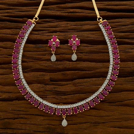 54770 CZ Classic Necklace with 2 tone plating
