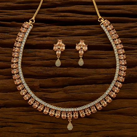 54771 CZ Classic Necklace with gold plating