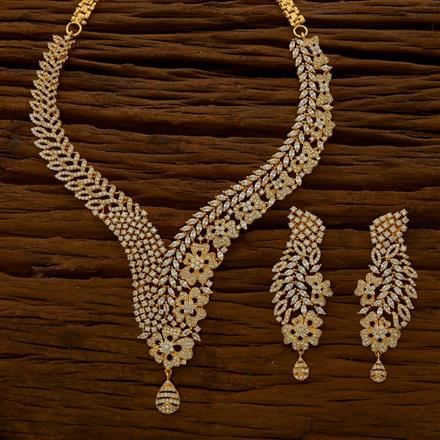 54772 CZ Classic Necklace with gold plating