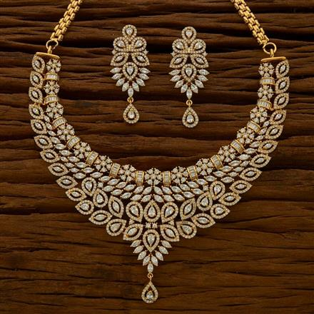 54775 CZ Classic Necklace with gold plating