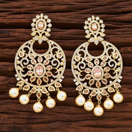 54846 CZ Classic Earring with gold plating