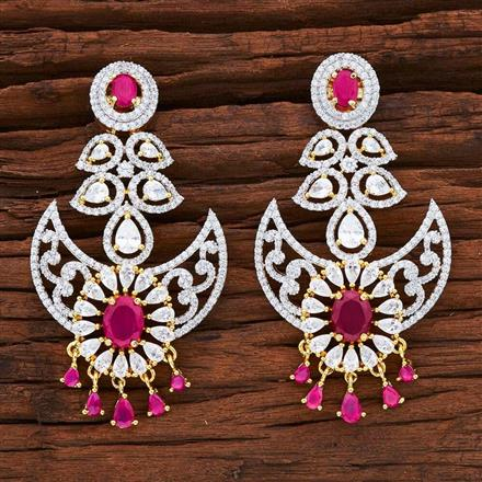 54847 CZ Classic Earring with 2 tone plating