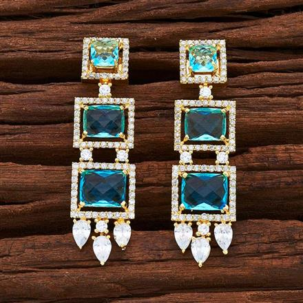 54848 CZ Short Earring with gold plating