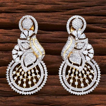 54850 CZ Classic Earring with 2 tone plating