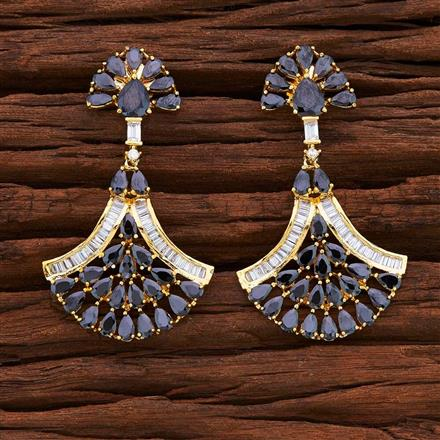 54851 CZ Classic Earring with gold plating