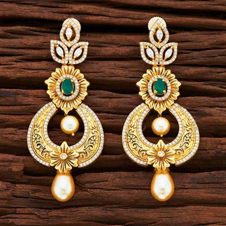 54861 CZ Classic Earring with gold plating